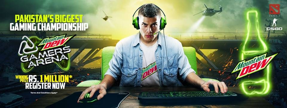Mountain Dew Gamers Arena is here again awarding Rs. 1 Million to the winner.
