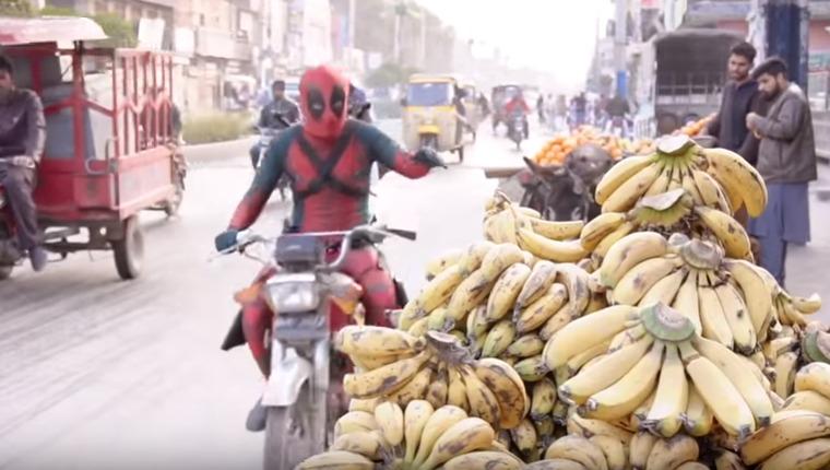 Desi deadpool stealing bananas