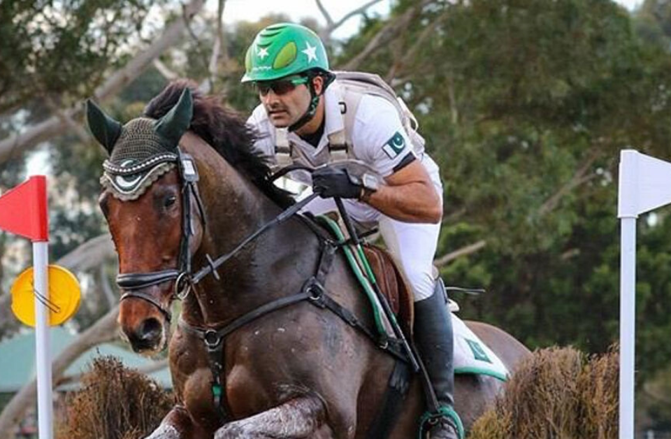 Pakistan equestrian Usman Khan