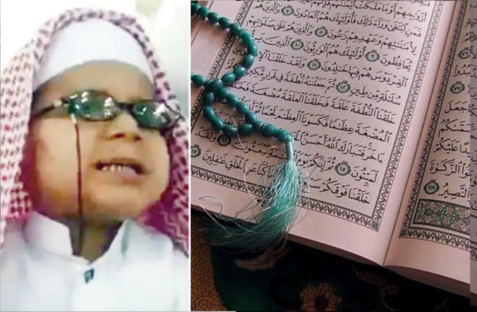 Memorizing the Quran by listening to it on radio? A five-year-old blind boy has done it!