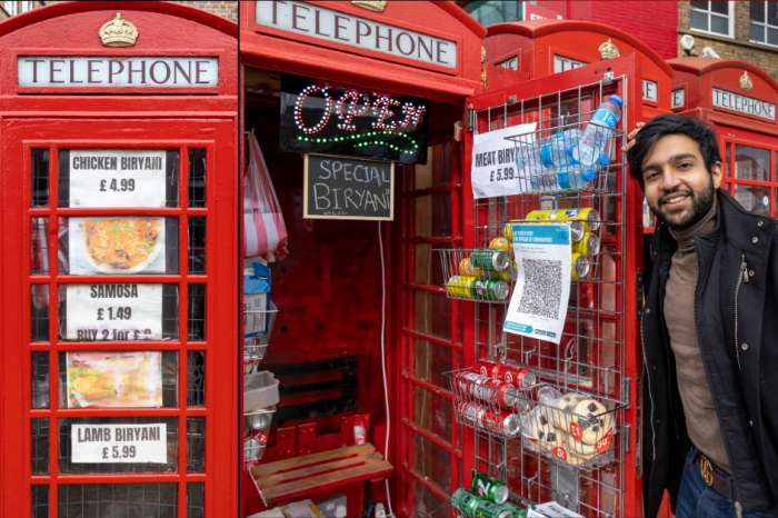 Lamb Biryani and Dal Chawal? UK's Iconic Red Phone Box Is 'World's Smallest Takeaway Restaurant'