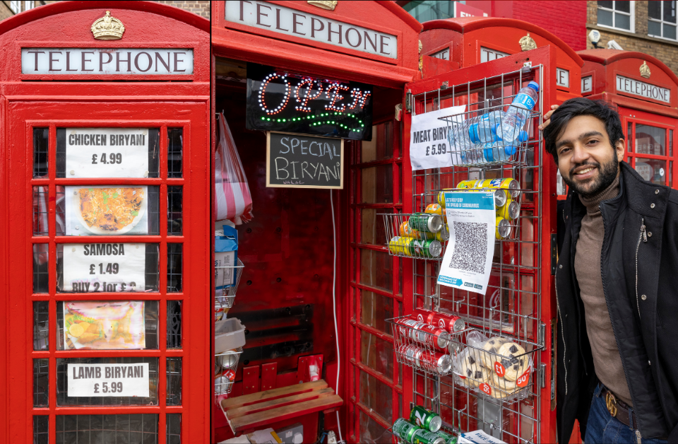UK's Iconic Red Phone Box Into 'World's Smallest Takeaway Restaurant'